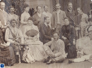 General Sir Neville Lyttelton (1845-1931) (seated on the floor, centre), Bombay c1885. Lyttelton collection. Copyright QMUL.