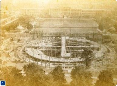 Construction of the Royal Albert Hall c.1867 (taken from the top of the Albert Memorial)