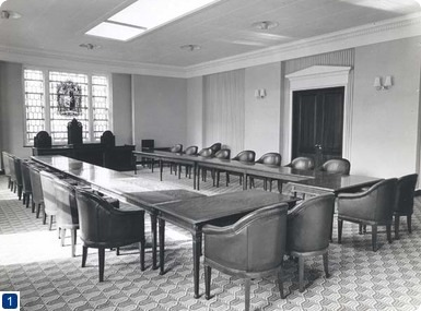 Council Chamber, Royal College of Gynaecologists and Obstetricians, 1960