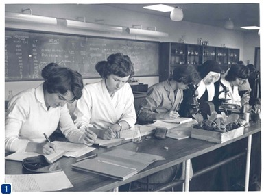 Westfield College botany students 1962. Copyright, QMUL