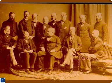 Society of Apothecaries' Court of Examiners, 1880. Copyright, Society of Apothecaries
