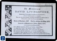 Invitation to David Livingstone's memorial service at Westminster Abbey. Copyright, Royal Geographical Society
